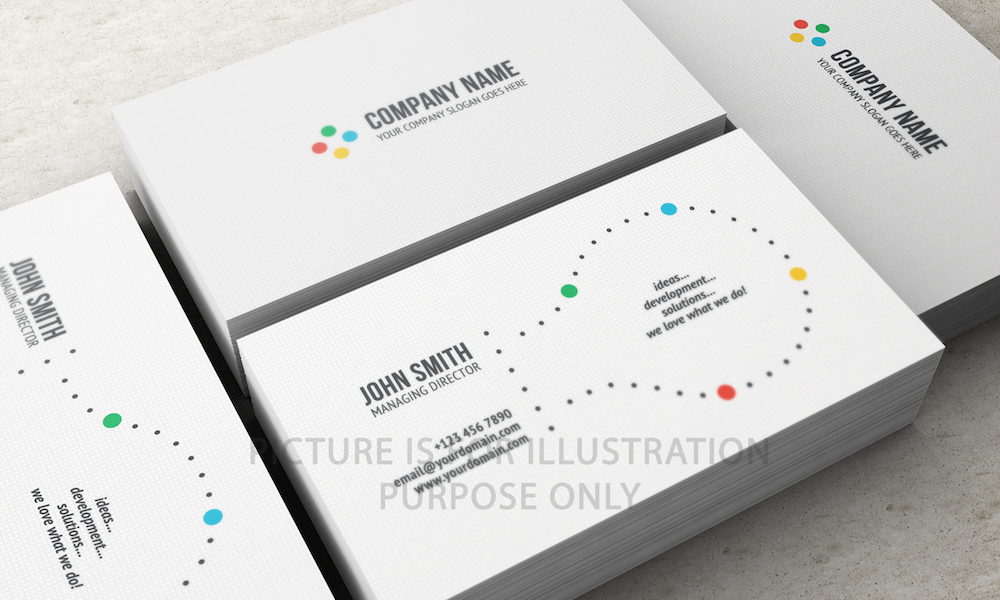 Velvet Laminated 450gsm Business Cards | ALOIT Consulting