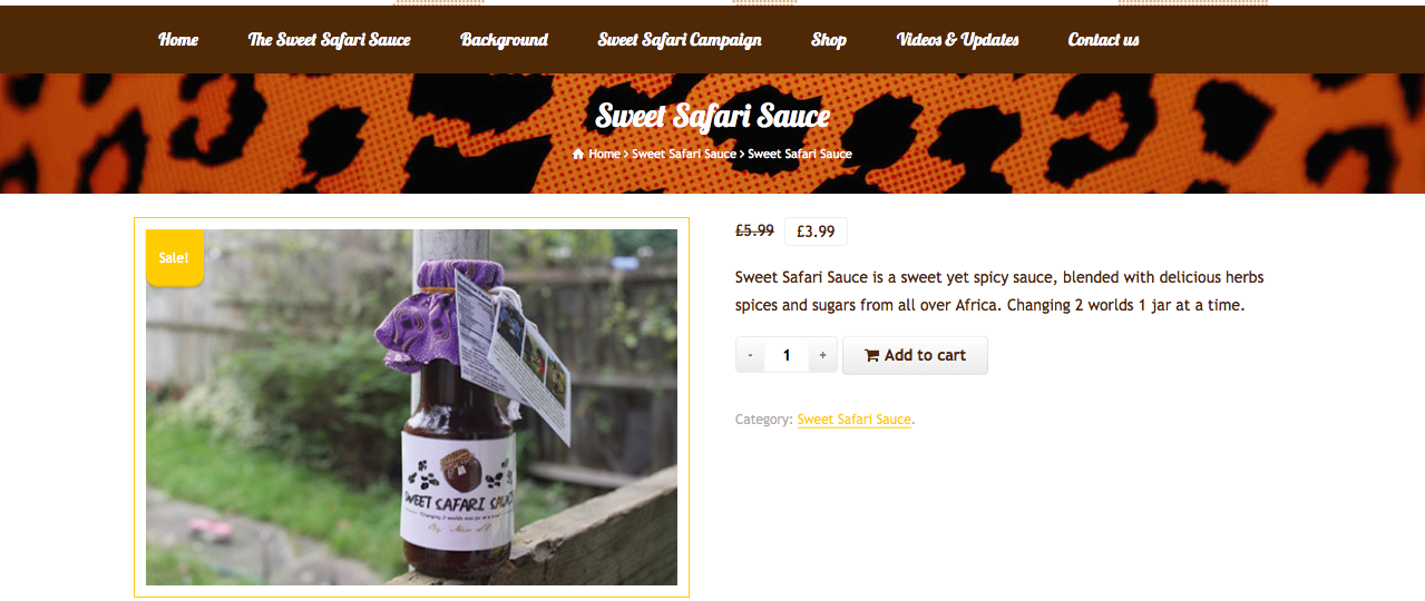 Sweet Safari Sauce Product
